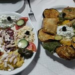 Two different plates of Mezze, delicious!