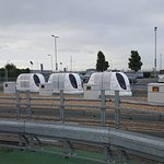 PODs in Business Car Park from Hotel