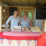 The two pie ladies in 2015 when they operated a delightful roadside stand. Now a sit-down eatery