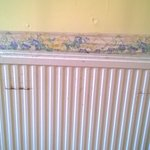 Damage on wall and radiator
