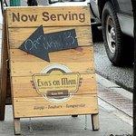 sign on sidewalk