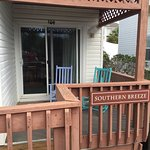 We stayed in room 604 of Southern Breeze, we loved sitting on our front porch in the rocking cha
