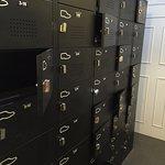 Lockers. Bring your own padlocks.