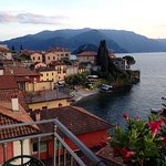 The town of Varenna from the balcony of room 5