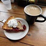 One good cup of Joe and a yummy cherry pie!