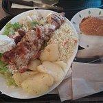 Chicken souvlaki dinner $14.95
