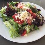 Strawberry and feta salad $8