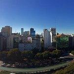 View of Av. 9 de Julio from the rooftop
