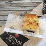 My favourite at La Bottega is the Focaccia Bread! Perfect Sandwich! Absolutely delicious and Fan