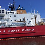 Coast Guard Cutter Mackinaw that is docked in Cheboygan