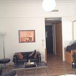 Sådan ser det største standard værelse ud, samme værelse som på udstillingsbillederne på hjemmes