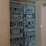 Quirky wall paper in room
