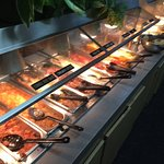 One of the two buffet lines