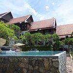 Infinity pool with view over Luang Prabang