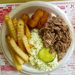 Chopped barbecue plate