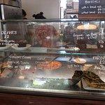 Cafe Kino's food counter display