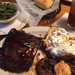 Special-Sirloin, baby back ribs and garlic shrimp