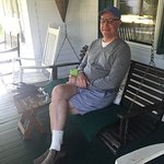 Chilling on the front porch at Monadnock Inn