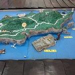 空港にある与那国島全体図