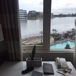 Our view of the lagoon on a rainy morning