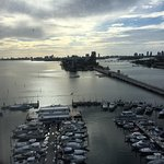 This morning from the 16th floor with a lovely view of Biscayne Bay.
