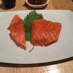 Excellent, fresh, salmon sashimi...
