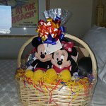 My kids received this gorgeous welcome gift basket from Disney Floral and Gifts