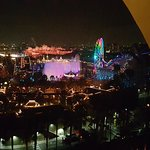 The World of Color water and lights show view from our suite