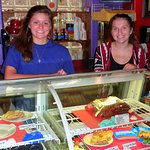 The smiles on Macie and Taylor's faces exemplify the friendliness of the Eggington staff.