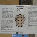 Le panneau donnant les détails sur l'église