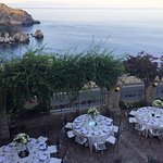our table set up for the wedding over looking Isola Bella
