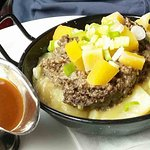A delicious, savory haggis meal, waiting for you to devour it!!!