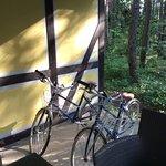 各コテージに2台ずつの自転車があります