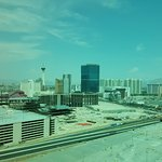 A hot and dusty Vegas afternoon ... not truly an attractive room view!