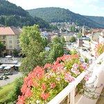 Aussicht vom Balkon auf Bad Wildbad