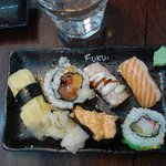 Ample selection of sushi in the buffet, tasty food in general... sometimes the restaurant is cro