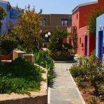 Stuk tuin tussen blokken kamers
