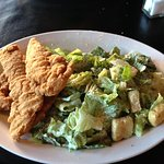 Large Chicken Fingers with Caesar Salad