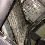 inside air conditioning unit--froze and dirty