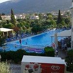 Vista delle piscine dalla suite n.21