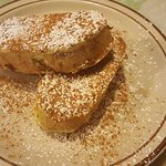French toast - soft inside with a slight browning all around - PERFECT!