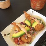 Tacos de Pescado with Aguacate and chipotle mayo