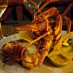 The live lobster dinner, so well presented and properly cooked