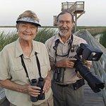 Locals, Joan & Scott Holt, Retired UTMSI Scientists enjoy all the Port A birding locations