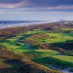 Overview of the golf course at the shoreline in Port Aransas, Texas