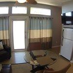 Living room in unit 1