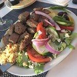 souvlaki with extra steak - delicious!