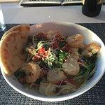 Linguine with Shrimp and Scallops - dinner menu special