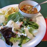 Fresh, crisp salad fixings and hot home-made tasting soup