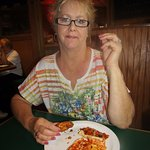 Janis lovin' that pizza buffet too